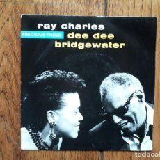 Discos de vinilo: RAY CHARLES & DEE DEE BRIDGEWATER - PRECIOUS THING + SUNSET AND BLUE . Lote 195720158