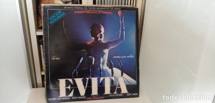 EVITA VERSIÓN ORIGINAL ESPAÑOL EDICIÓN RESUMIDA PALOMA SAN BASILIO PATXI ANDION (Música - Discos - LP Vinilo - Bandas Sonoras y Música de Actores )