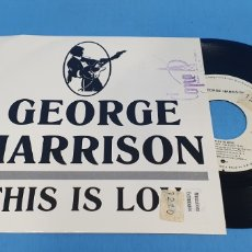 Discos de vinilo: DISCO PROMOCIONAL SINGLE, GEORGE HARRISON, THIS IS LOVE. Lote 195812363