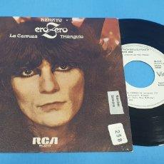 Discos de vinilo: DISCO PROMOCIONAL SINGLE, RENATO EUROPEO, LA CARROZA-TRIANGULO. Lote 195813473