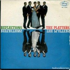 Discos de vinilo: THE PLATTERS / EBB TIDE / LAZY RIVER / BY THE RIVER SAINTE MARIE + 1 (EP 1960). Lote 195821613