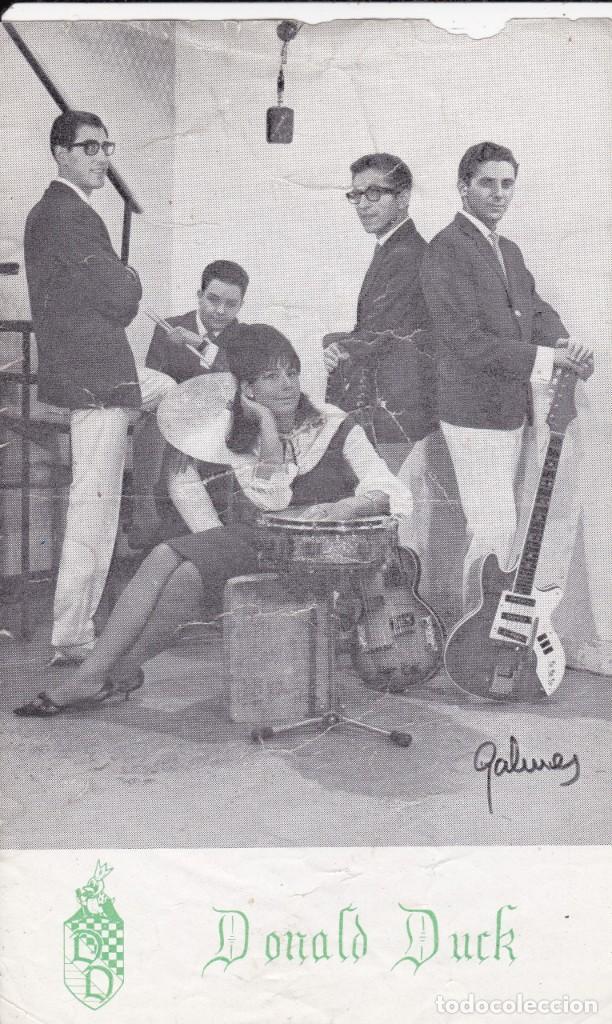 PAPEL TAMAÑO POSTAL DONALS DUCK AÑOS 60 (Música - Discos de Vinilo - Maxi Singles - Grupos Españoles 50 y 60)