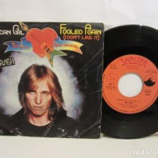 Discos de vinilo: TOM PETTY AND THE HEARTBREAKERS - AMERICAN GIRL - SINGLE - 1977 - SPAIN - VG+/VG. Lote 195844791