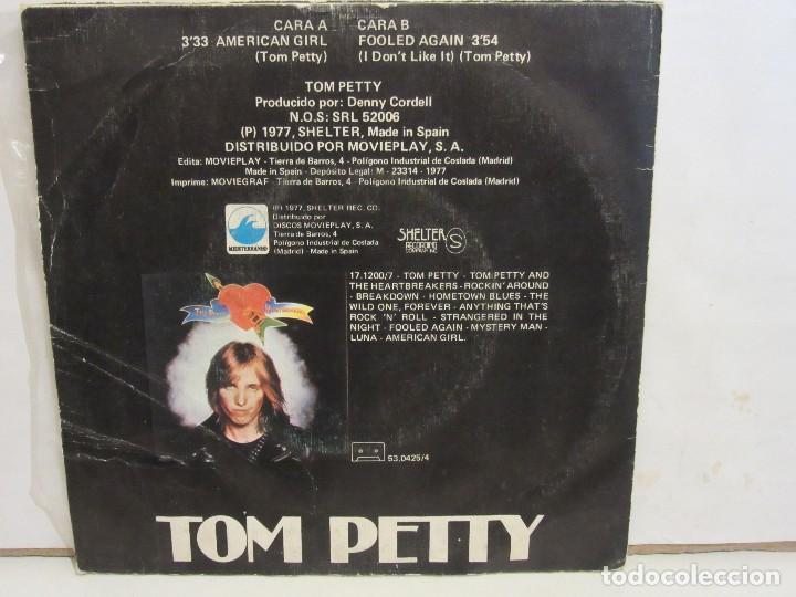 Discos de vinilo: Tom Petty And The Heartbreakers - American Girl - Single - 1977 - Spain - VG+/VG - Foto 2 - 195844791