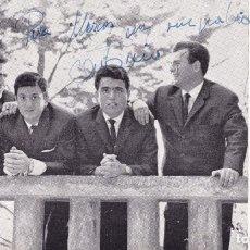 Discos de vinilo: PAPEL TAMAÑO POSTAL CUARTETO MARANATHA GANÓ EL CONCURSO TVE SALTO A LA FAMA 1964. Lote 195821657