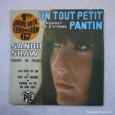 Discos de vinilo: SANDIE SHAW - UN TOUT PETIT PANTIN + 3 CANCIONES MÁS - EP 1967 . Lote 195873033
