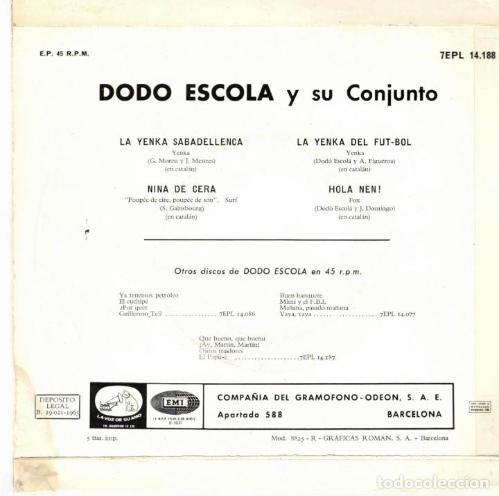 Discos de vinilo: dodo escola - la yenka sabadellenca + 3 - ep spain 1965 - Foto 2 - 195879657