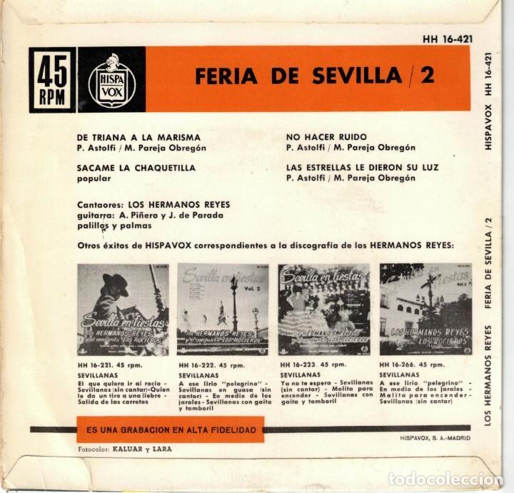 Discos de vinilo: los hermanos reyes - feria de sevilla - ep spain 1963 - Foto 2 - 195879950