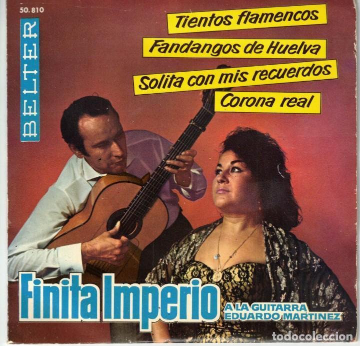 FINITA IMPERIO - TIENTOS FLAMENCOS + 3 - EP SPAIN 1962 (Música - Discos de Vinilo - EPs - Flamenco, Canción española y Cuplé)