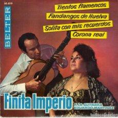Discos de vinilo: FINITA IMPERIO - TIENTOS FLAMENCOS + 3 - EP SPAIN 1962. Lote 195880605