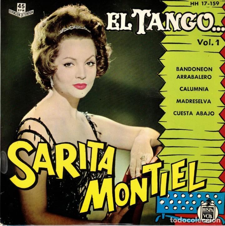 SARITA MONTIEL - EL TANGO - BANDONEON ARRABALERO +3 EP SPAIN 1961 (Música - Discos de Vinilo - EPs - Flamenco, Canción española y Cuplé)