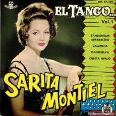 Discos de vinilo: SARITA MONTIEL - EL TANGO - BANDONEON ARRABALERO +3 EP SPAIN 1961. Lote 195881798