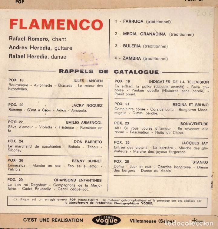 Discos de vinilo: FLAMENCO - CANTA RAFAEL ROMERO - EP EDICION FRANCE - Foto 2 - 195883553