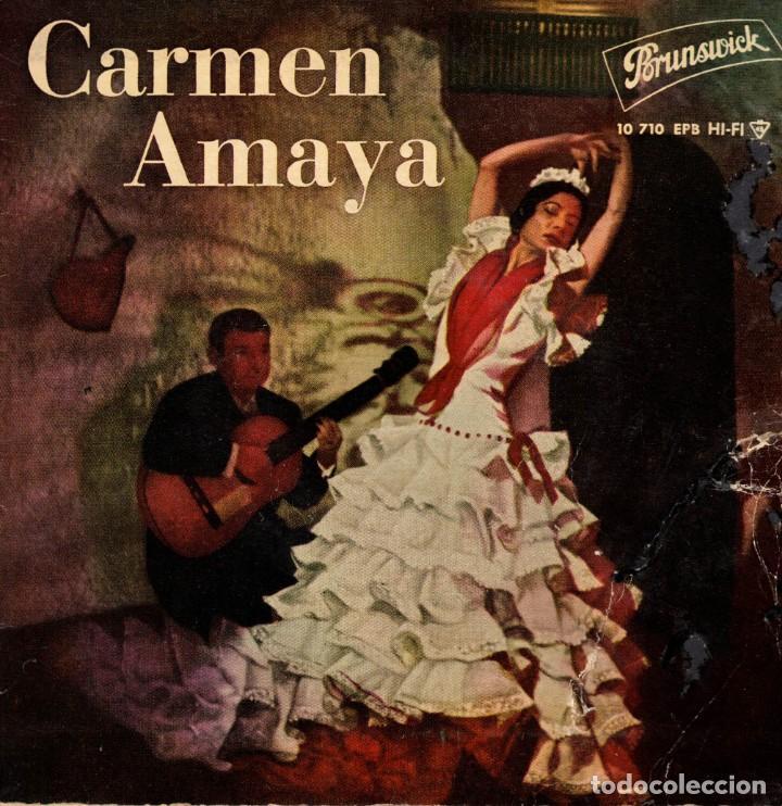 CARMEN AMAYA - SEVILLANAS - EP SPAIN 1961 (Música - Discos de Vinilo - EPs - Flamenco, Canción española y Cuplé)
