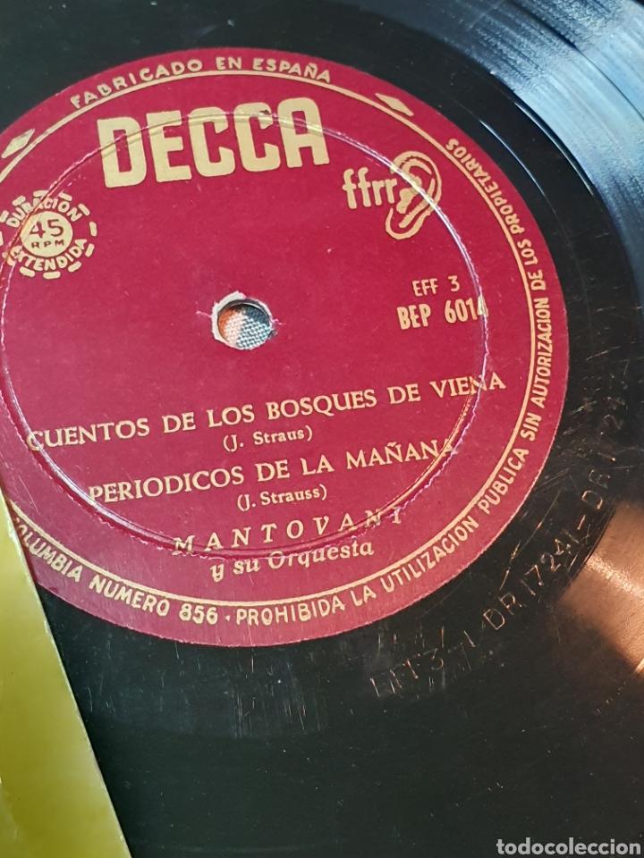 Discos de vinilo: mantovani - cuentosdel bosque de viena, periodicos de la mañana, el mar, noche y dia, decca - Foto 3 - 195898670
