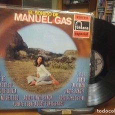 Disques de vinyle: MANUEL GAS EL SONIDO DE MANUEL GAS LP SPAIN 1970 PDELUXE. Lote 195903011