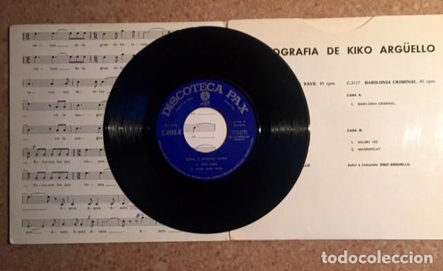 Discos de vinilo: KIKO ARGÜELLO - Foto 3 - 195904470