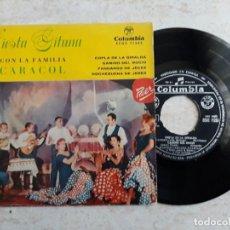 Discos de vinilo: CARACOL FAMILIA. FIESTA GITANA AÑO 1960.. Lote 195926521