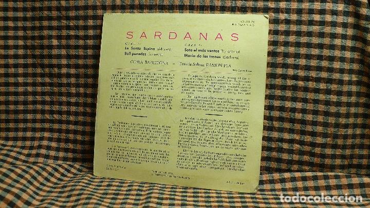 Discos de vinilo: sardanas, cobla barcelona, la santa espina, bell penedes, sota el mas ventos, maria de les trenes. - Foto 2 - 195933108