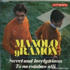 Dischi in vinile: MANOLO Y RAMON / SWEET AND LOVELY DIANA / TU NO ESTABAS ALLI (SINGLE 1968). Lote 195933813