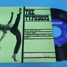 Discos de vinilo: DISCO SINGLE, THE TYPHOONS: BITS AND PIECES/CANDY MAN/I WANT TO HOLD TOUR HAND/STAY. Lote 195934143