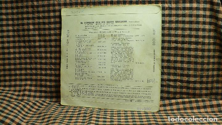 Discos de vinilo: cuentos infantiles el gorrion que no quiso estudiar, odeon , bsoe, 4.011, - Foto 2 - 195936348