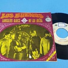 Discos de vinilo: DISCO SINGLE PROMOCIONAL, LOS BUENOS: LOOKING BACK/DE MI NIÑA. Lote 195941463