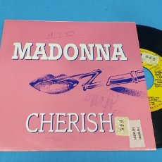 Discos de vinilo: DISCO SINGLE PROMOCIONAL, MADONNA: CHERISH. Lote 195945912