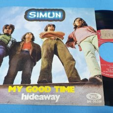 Discos de vinilo: DISCO SINGLE, SIMUN: MY GOOD TIME/HIDEAWAY. Lote 195949072