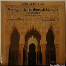 Disques de vinyle: MANUEL DE FALLA - NOCHES EN LOS JARDINES DE ESPAÑA - JUAQUIN ACHÚCARRO - 1978. Lote 195959152