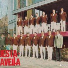 Discos de vinilo: PAPEL TAMAÑO POSTAL DE LA ORQUESTA MARAVELLA DE CALDES DE MALAVELLA GIRONA . Lote 195962463