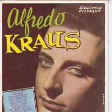 Discos de vinilo: REVISTA DE ALFREDO KRAUS ED. BISTAGNE BARCELONA 1960. Lote 195969148