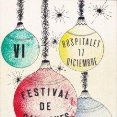 Discos de vinilo: VI FESTIVAL DE CANCIONES HOSPITALET 1972 BARCELONA. Lote 195969770