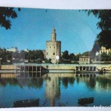 Discos de vinilo: TARJETA POSTAL SONORA FLEXIDISCO FONOSCOPE - TORRE DEL ORO DE SEVILLA - 1958. Lote 195999603