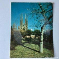 Discos de vinil: TARJETA POSTAL SONORA FLEXIDISCO FONOSCOPE - LA SAGRADA FAMILIA DE BARCELONA - 1959. Lote 195999840