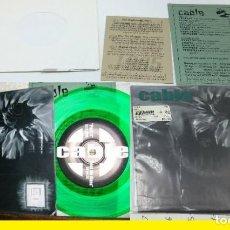 Discos de vinilo: CABLE ?– PART 3 / FEED ME GLASS / 45 PICTURE DISC COLOR VERDE ORG EDT USA, IMPECABLE. Lote 196003761