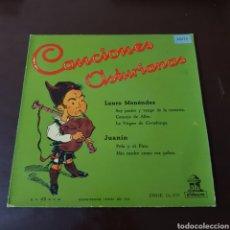 Discos de vinil: CANCIONES ASTURIANAS- LAURO MENENDEZ - JUANIN. Lote 196023712