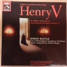 Discos de vinilo: HENRY V (ENRIQUE V) PATRICK DOYLE EMI RECORDS 1989 CARPETA DOBLE COMO NUEVO!!!. Lote 196033013