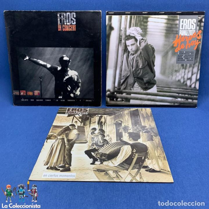 LOTE DE 3 LP - VINILO - EROS RAMAZZOTTI - AÑOS 80 - VER DESCRIPCIÓN (Música - Discos - LP Vinilo - Canción Francesa e Italiana)
