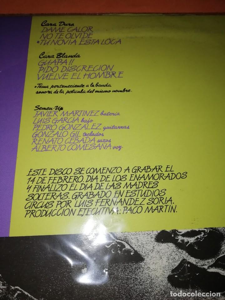 Discos de vinilo: SEMEN UP . VUELVE EL HOMBRE .MINI LP .PRODUCCIONES TWINS. CBS RECORDS 1987 - Foto 3 - 196048510