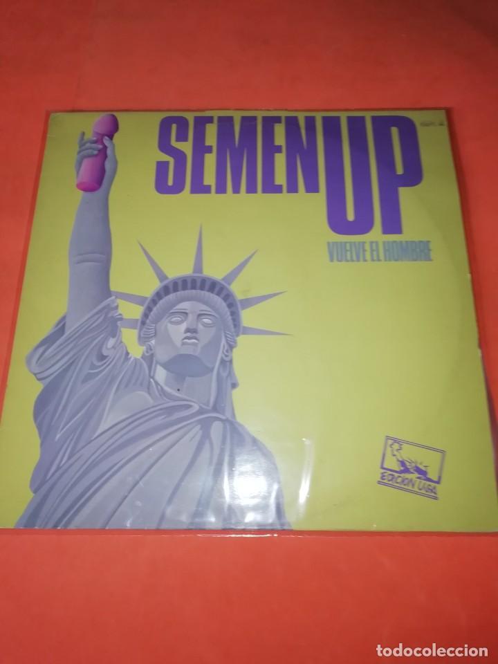 SEMEN UP . VUELVE EL HOMBRE .MINI LP .PRODUCCIONES TWINS. CBS RECORDS 1987 (Música - Discos - LP Vinilo - Grupos Españoles de los 70 y 80)