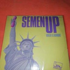 Discos de vinilo: SEMEN UP . VUELVE EL HOMBRE .MINI LP .PRODUCCIONES TWINS. CBS RECORDS 1987. Lote 196048510