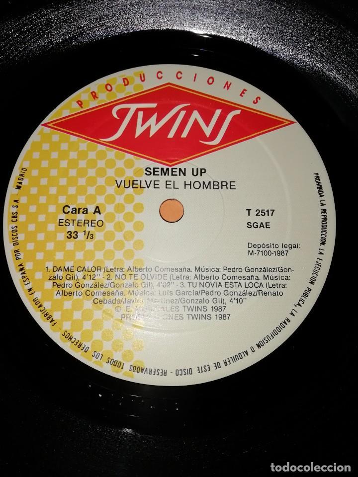 Discos de vinilo: SEMEN UP . VUELVE EL HOMBRE .MINI LP .PRODUCCIONES TWINS. CBS RECORDS 1987 - Foto 5 - 196048510