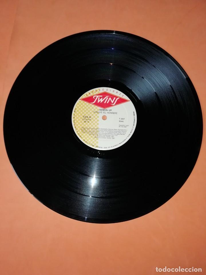 Discos de vinilo: SEMEN UP . VUELVE EL HOMBRE .MINI LP .PRODUCCIONES TWINS. CBS RECORDS 1987 - Foto 8 - 196048510