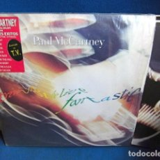 Discos de vinilo: BEATLES PAUL MCCARTNEY TRIPLE LP EMI ODEON ESPAÑA PEGATINA EN LA PORTADA RE EDICION. Lote 196049431