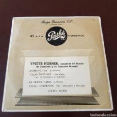 Disques de vinyle: YVETTE HORNER Y SU CONJUNTO MUSETTE. Lote 196067125