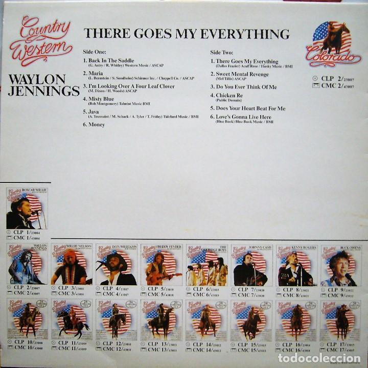 Discos de vinilo: WAYLON JENNINGS - THERE GOES MY EVERYTHING - Foto 2 - 196093202