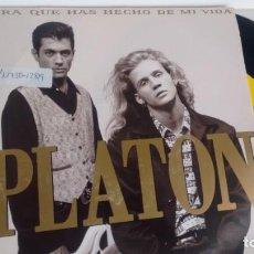 Disques de vinyle: SINGLE ( VINILO) -PROMOCION- DE PLATON AÑOS 90. Lote 196093982