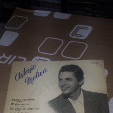 Discos de vinilo: ÚNICO EN TODOCOLECCION ANTONIO MOLINA SEGUIDILLA CASCABELERA Y 3 MAS ODEON 16059. Lote 196097095
