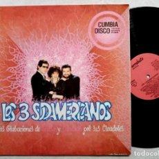 Discos de vinilo: LOS 3 SUDAMERICANOS - NUEVAS GRABACIONES SALSA Y CUMBIAS - LP 1990 - ARREBATO. Lote 196105887